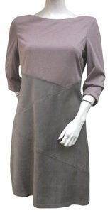 Kay Unger Shift Ultrasuede Dress
