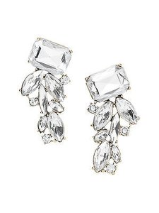 Banana Republic Banana Republic Regalia Cluster Earrings Clear