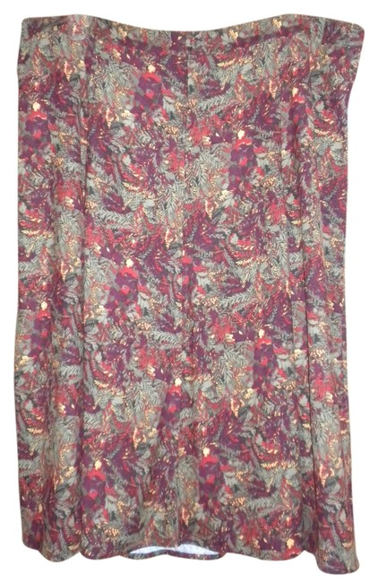 CJ Banks Moleskin Maxi Skirt MULTI--RED GOLD GREEN