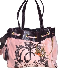 Juicy Couture Velour Travel Tote in light pink