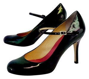 Kate Spade Iridescent Black Patent Pumps