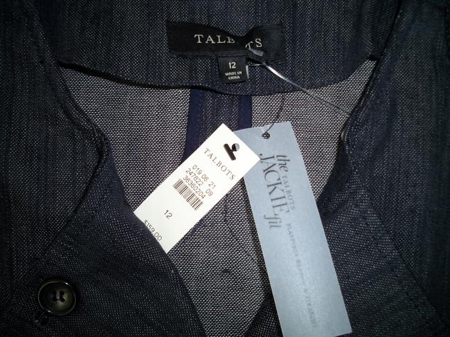 Talbots Denim Cotton Double Breasted Womens Jean Jacket