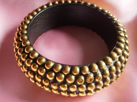 Body Central New Wood Bracelet w/gold studs