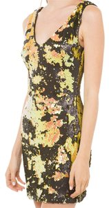 Akira Sequin Club Backless Black Label Nwt Dress