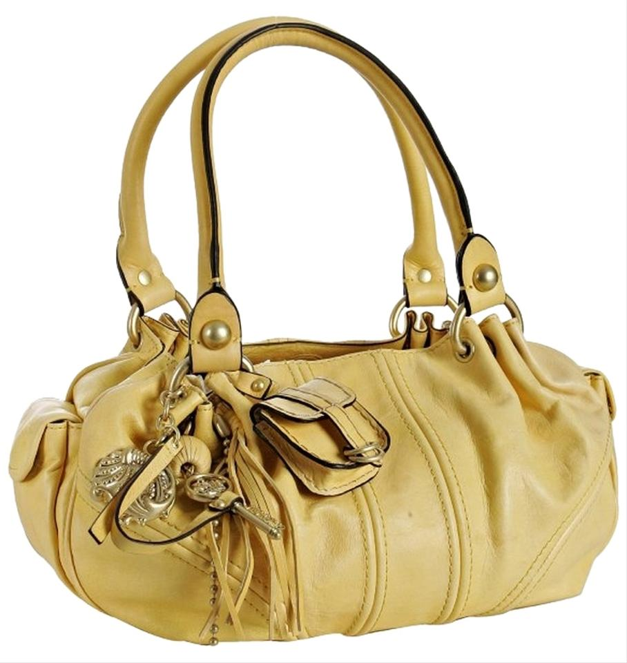 fd780c588971 Juicy Couture  baby Fluffy  Buttercup Yellow Leather Shoulder Bag ...