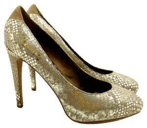 Sam Edelman Holiday Snake metallic gold Pumps