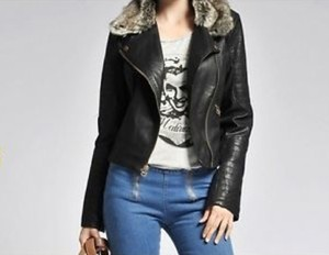 Zara Leather Moto Quilted Motorcycle Jacket
