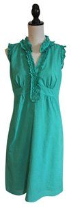 Ann Taylor LOFT short dress Turquoise Dotted Swiss on Tradesy