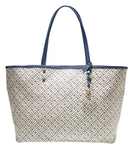 Cole Haan Tote in Cream/grey/black/blue