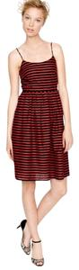 J.Crew short dress Black and Red striped Strappy on Tradesy