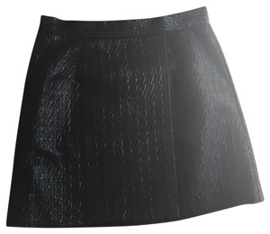 BCBGMAXAZRIA Chanel Louis Vuitton Leather Black Mini Mini Skirt