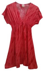 3907f467f68 Mossimo Supply Co. short dress red orange Sundress Kimono V Neck Short  Sleve Night