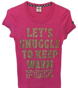 Victoria's Secret T Shirt Pink and gold
