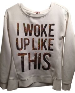 Juicy Couture Graphic Sequin Sequin Graphic Woke Up Like This Sweater