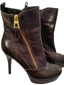 Guess Gold Hardware Brown Boots