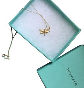 Tiffany & Co. Authentic Brand New Tiffany & Co. 18k Yellow Gold Dragonfly Necklace 16