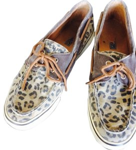 Sperry Cheetah Print Flats