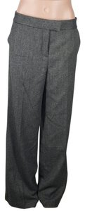 DKNY Wool Blend Tweed Trouser Pants Black