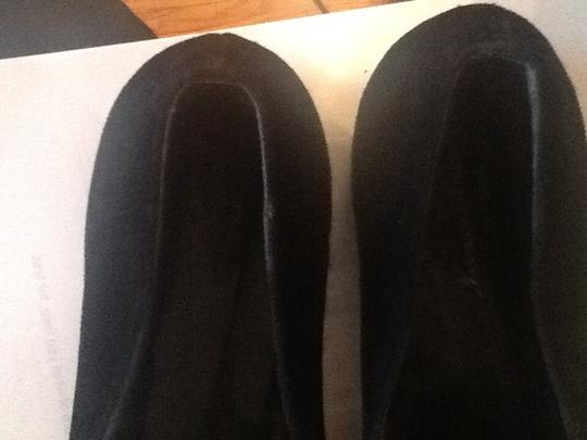 Norman Kaplan Loafers Suede Black and Leopard Flats
