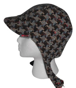 Tracy Watts Tracy Watts Multi-Color Tweed Wool Cap Hat