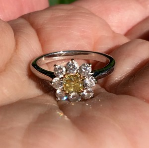 1 Ct. Natural Fancy Intense Yellow Diamond Ring