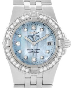 Breitling Breitling Starliner Ladies Blue Mother of Pearl Diamond Watch A71340