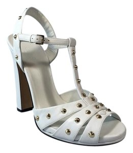 Gucci Leather White Sandals