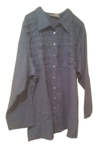 Silhouettes Button Down Shirt Blue