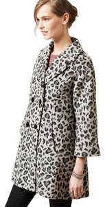 Elevenses Leopard Trapeze Animal Print Faux Fur Fur Coat