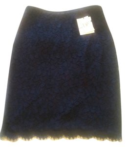Diane von Furstenberg Dvf Lace Scotia New With Tags Skirt Navy