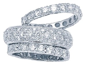 Pave Eternity Diamond Bands With Diamond Guards