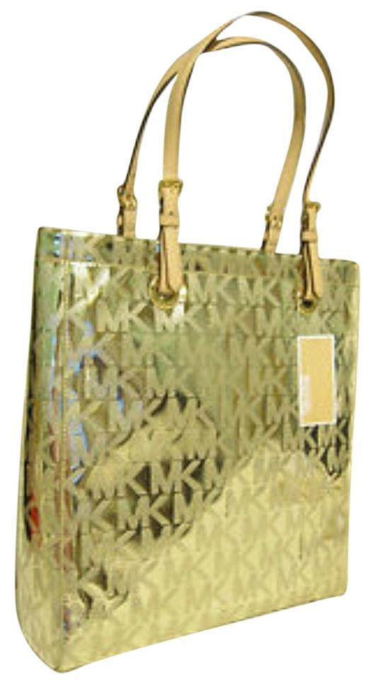 Michael Kors Tote In Metallic Gold