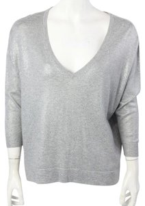 Joie Metallic V-neck Sweater