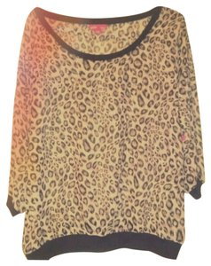 Mix & Co Sheer 1x Top Multicolored Leopard