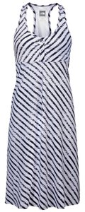 The North Face short dress Navy and White Stripe on Tradesy