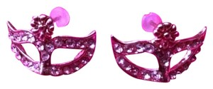 Other 50 Shades of Grey Gold Mask Earrings