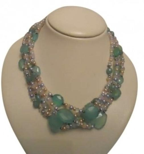Preload https://item1.tradesy.com/images/green-multi-faceted-stone-with-sterling-detail-necklace-137555-0-0.jpg?width=440&height=440