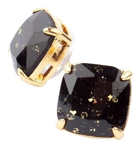 Kate Spade NEW kate spade New York Jet Black Square Studs with Gold Specks - 12k Gold Earrings