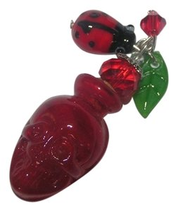 Red Skull Glass Perfume Bottle Necklace Free Shipping