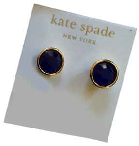 Kate Spade NWT FAST SHIPPING Royal Blue & Gold Stud orig $58