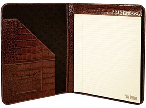 Jack Georges CROCO COLLECTION #2511 LETTER SIZE WRITING PAD HOLDER