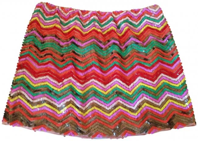 Hazel Skirt multicolor sequin