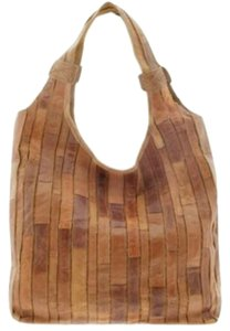Chocolat Blu Leather Patchwork Hobo Bag