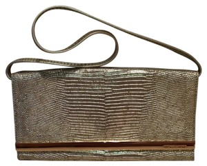 MICHAEL Michael Kors Snake Embossed Metal Shoulder Bag