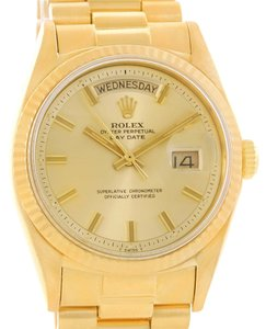 Rolex Rolex President Day-Date Wide Boy Dial 18k Yellow Gold Watch 1803