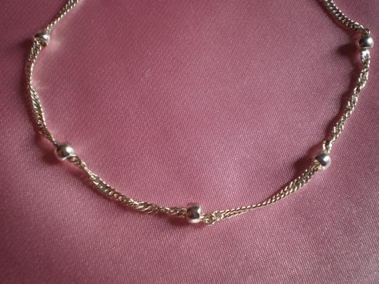 Claire's Like new Silvertone chain & beads Bracelet