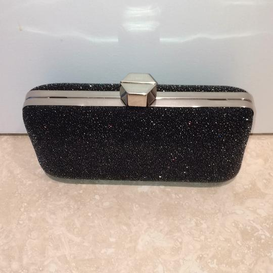MILLY Sparkle Silver Chain Black Clutch Image 3