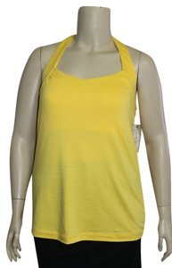 Derek Heart Yellow Halter Top