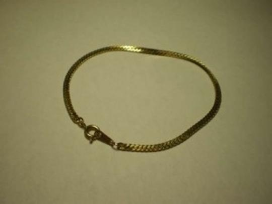 Unknown Gold Plated Snake Chain Bracelet