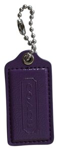 Coach Coach Amythest Purple Patent Leather Large Hangtag Lozenge